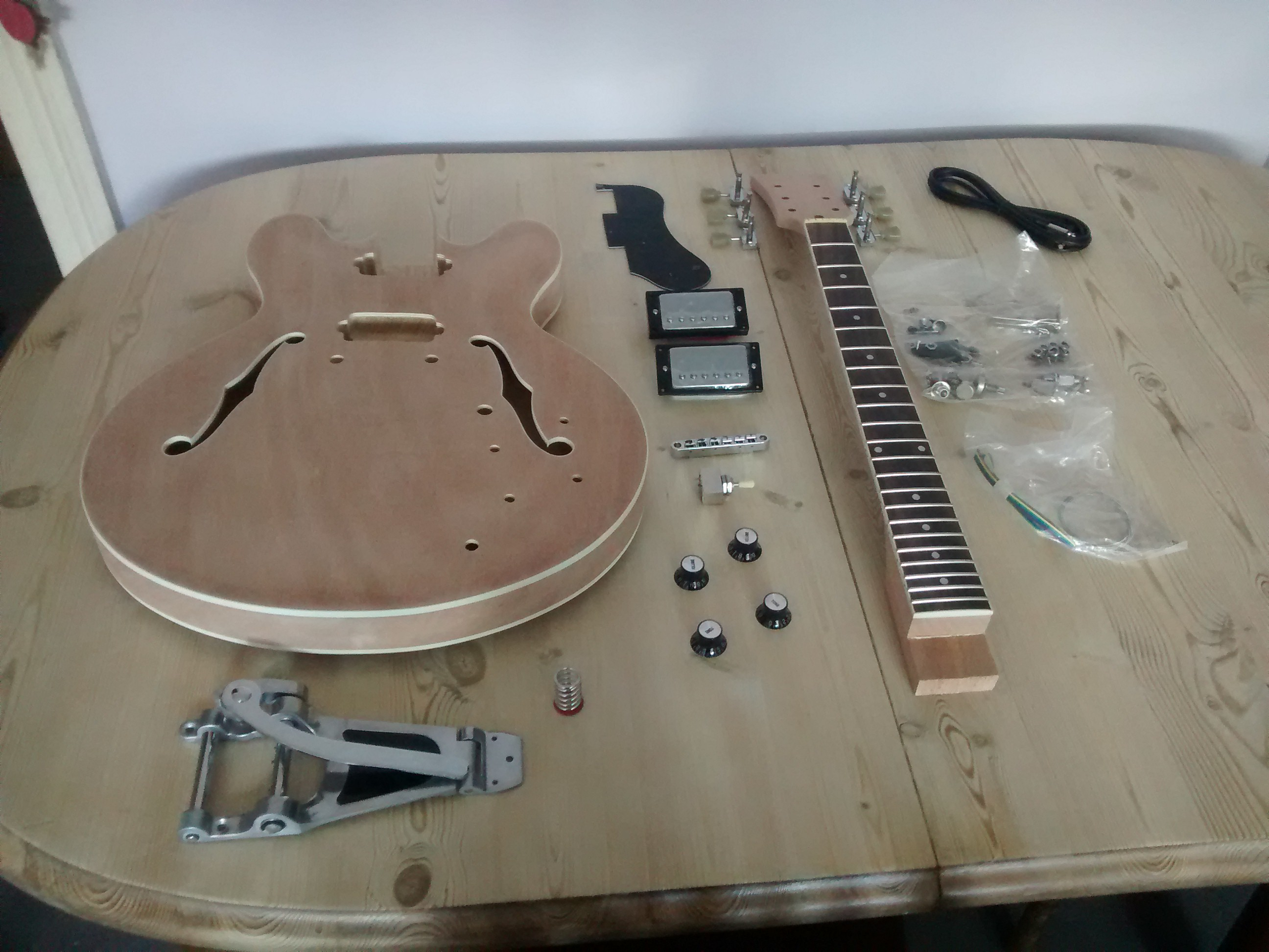 DIY guitar project: day 1